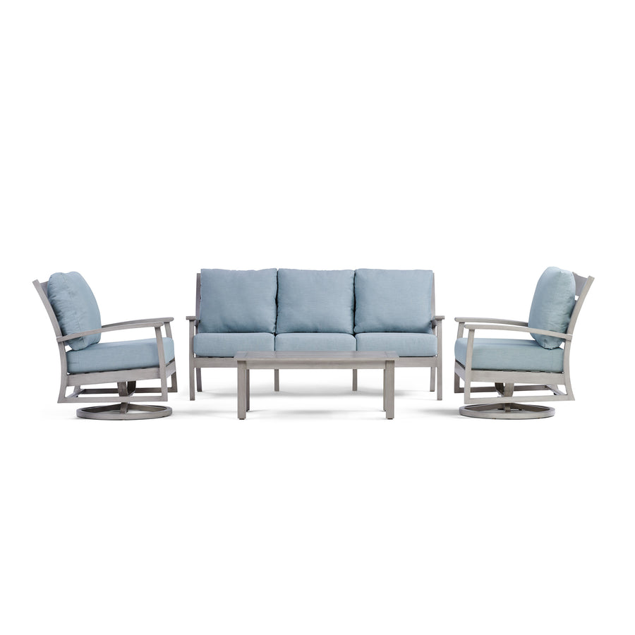 Yardbird Eden Outdoor Sofa Set with Swivel Chairs Outdoor Furniture