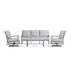 Yardbird Eden Outdoor Sofa Set with Swivel Rocking Chairs Outdoor Furniture