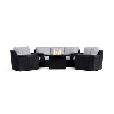 Yardbird Elliot 8-Piece Fire Pit Table Set Outdoor Furniture