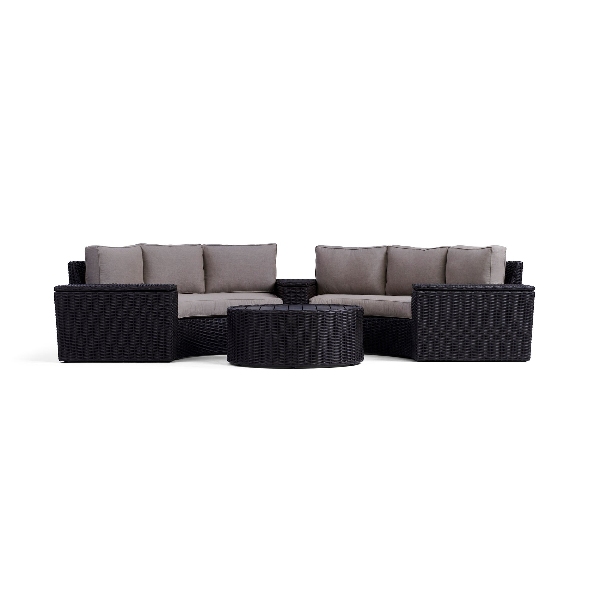 Fine Elliot 6 Piece Round Outdoor Sectional Set Yardbird Cjindustries Chair Design For Home Cjindustriesco