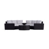 Yardbird Elliot Outdoor 6-Piece Round Sectional Set Outdoor Furniture