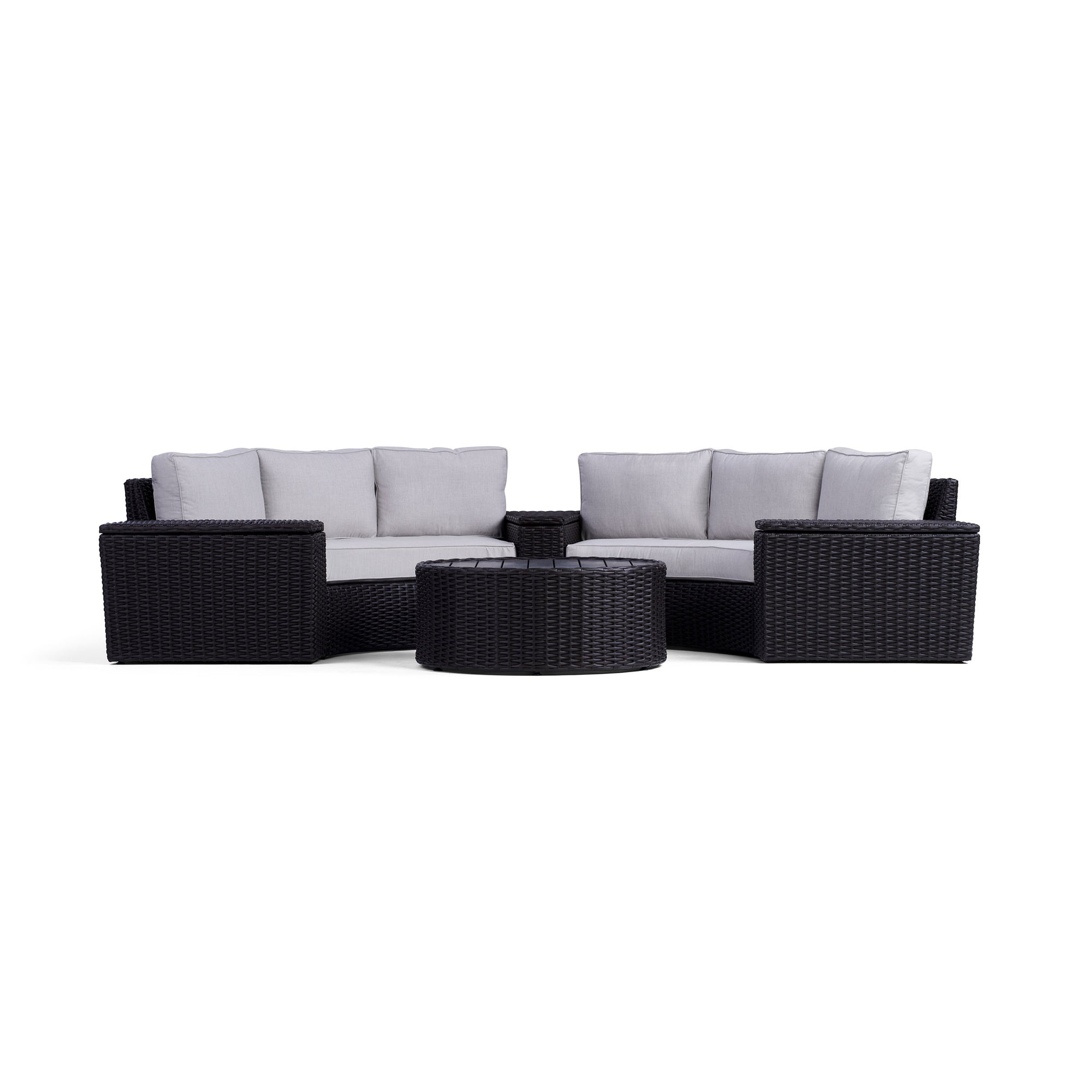 Swell Elliot 6 Piece Round Outdoor Sectional Set Yardbird Cjindustries Chair Design For Home Cjindustriesco