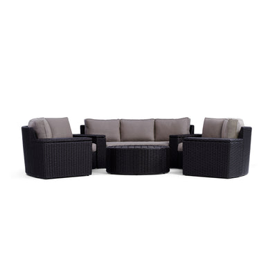 Yardbird Elliot Outdoor 8-Piece Round Sectional Set Outdoor Furniture