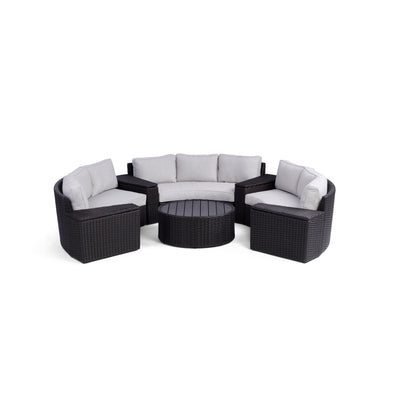Yardbird Elliot 8-Piece Round Sectional Set Outdoor Furniture