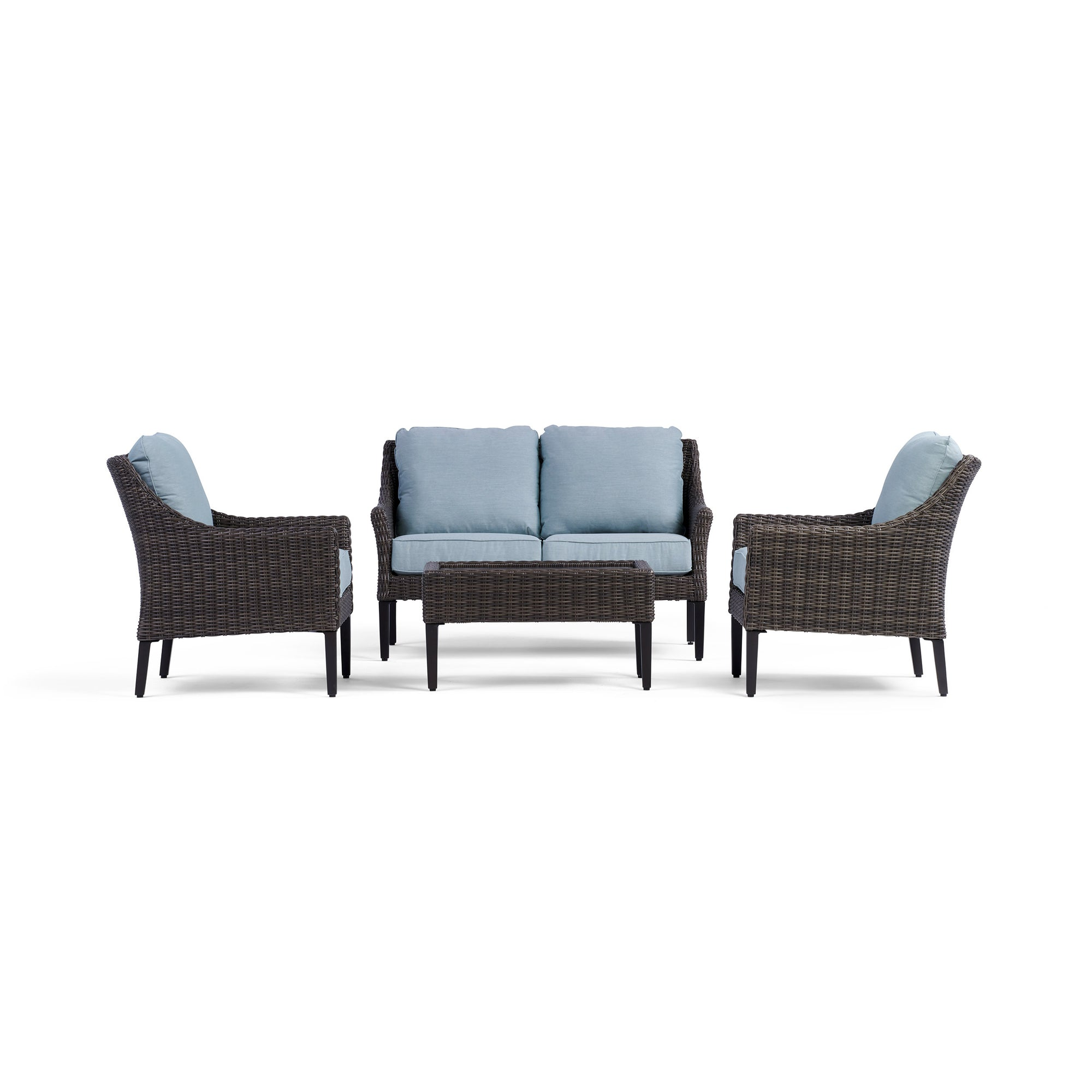 Outdoor Harriet Loveseat Set With 2 Chairs Coffee Table Yardbird