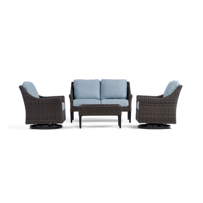 Yardbird Harriet Outdoor Loveseat Set with Swivel Glider Chairs Outdoor Furniture