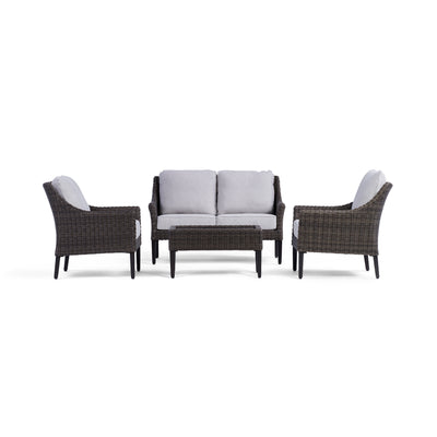 Yardbird Harriet Loveseat Set with Fixed Chairs Outdoor Furniture