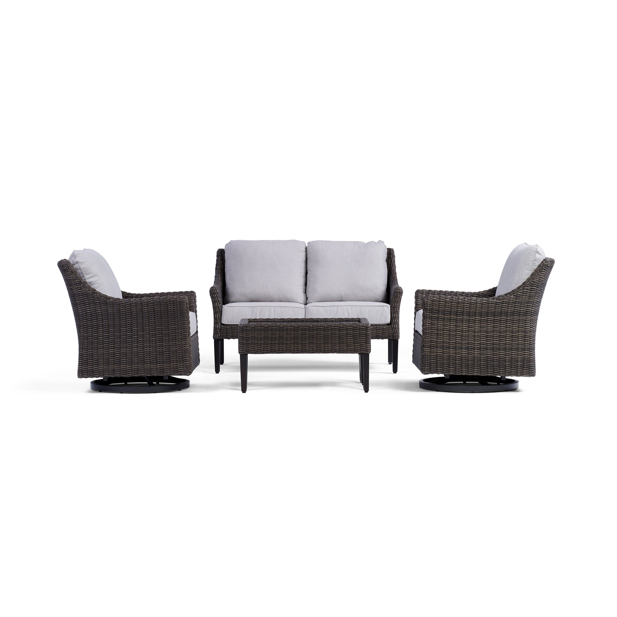 Harriet Outdoor Loveseat Set with Swivel Chairs | Yardbird®