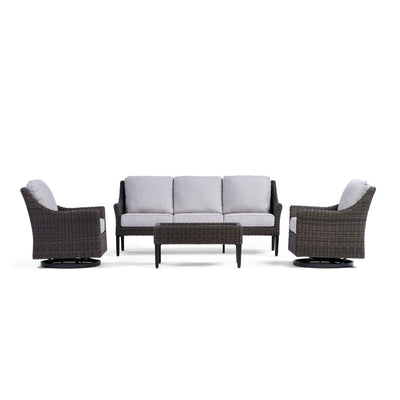 Yardbird Harriet Outdoor Sofa Set with Swivel Chairs Outdoor Furniture
