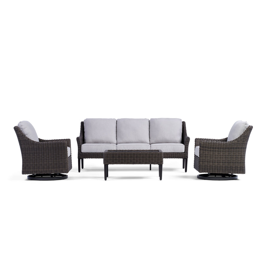 Yardbird Harriet Outdoor Sofa Set with Swivel Glider Chairs Outdoor Furniture