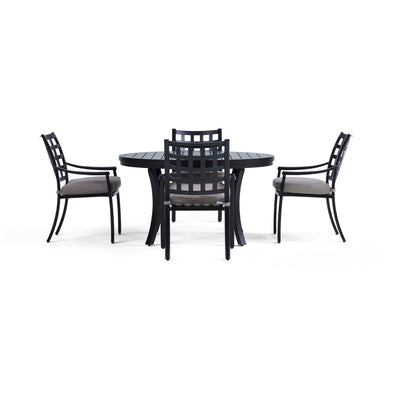 Yardbird Lily 5 Piece Circular Outdoor Dining Set Outdoor Furniture