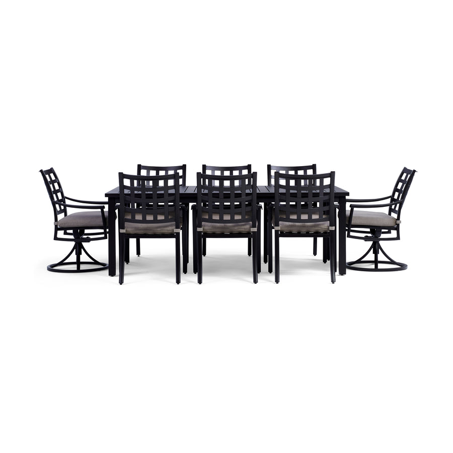Outdoor Dining Furniture For Your Patio Yardbird - Black rectangular outdoor dining table