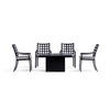 Yardbird Lily Outdoor Fire Pit Table Set with 4 Fixed Chairs Outdoor Furniture
