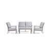 Yardbird Eden Outdoor Loveseat Set with Fixed Chairs Outdoor Furniture