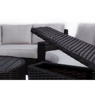 Elliot 8-Piece Round Sectional Set
