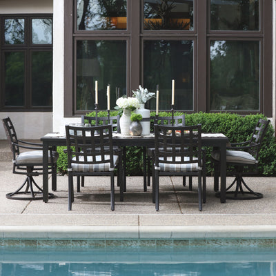 YardBird Lily 7 Piece Rectangular Outdoor Dining Set Outdoor Furniture
