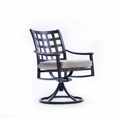 Yardbird Lily Outdoor Dining Swivel Chair Outdoor Furniture