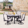 Yardbird Pepin Fire Table Set with 4 Sling Chairs Outdoor Furniture