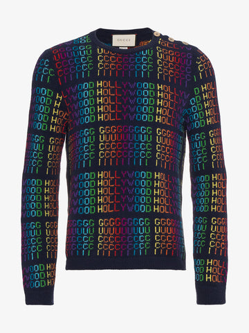 "Rainbow ""Gucci Hollywood"" Sweater"
