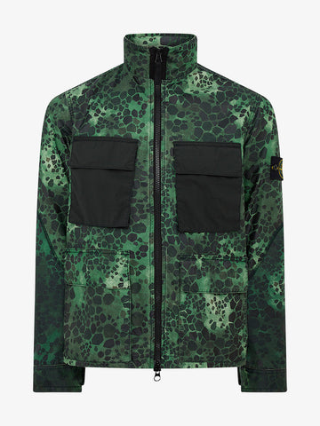 Alligator Camouflage Print Jacket