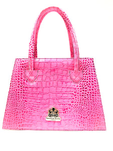 Pink Crocodile Print Wonder Bag