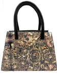 Tiger Jungle Print Leather Wonder Bag Black Handles