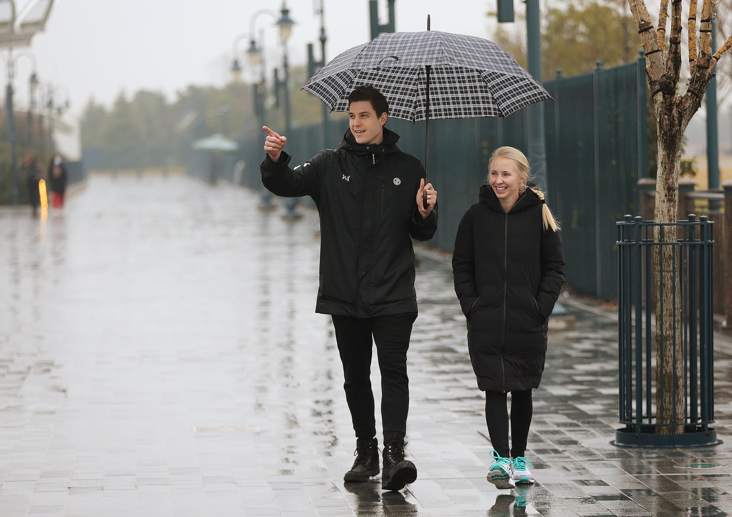 Jeffrey D. Allred, Deseret News Jimmer Fredette walks with his wife, Whitney, to Disneyland in Shanghai, China, on Jan 20, 2018. Fredette is a former BYU Cougar and now plays for the Shanghai Sharks in the Chinese Basketball Association.