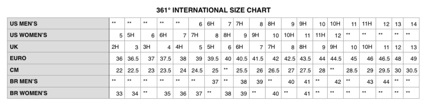 Women S Sizing Chart Ibovnathandedecker