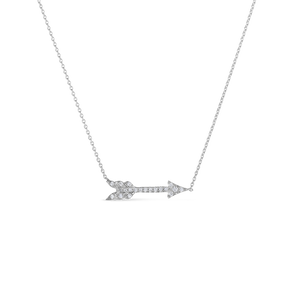 18Kt Arrow Necklace With Diamonds