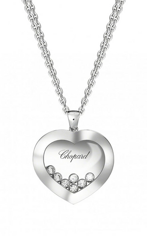 Happy Curves Pendant White Gold