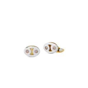 Marina Cufflinks With Brown Diamonds