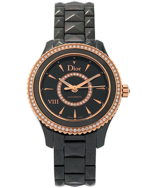 Dior V111 Montaigne 33 MM, Automatic Movement, Ceramic Diamond Dial