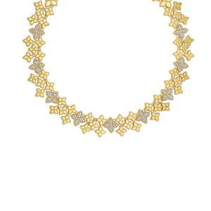 Wide Link Collar Diamonds