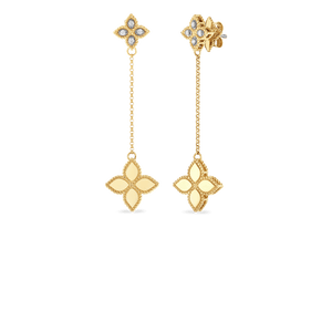 Short Drop Earrings Diamonds