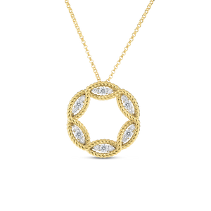 Large Diamond Circle Necklace 2