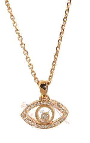 Rose Gold Diamond Eye Charm Pendant