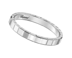 Mini Ice Cube White Gold Band
