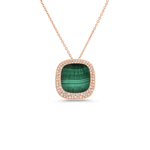 Small Pendant Malachite Diamonds