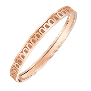 L'Arc de DAVIDOR Bangle PM, 18k Rose Gold with Satin Finish, size 17