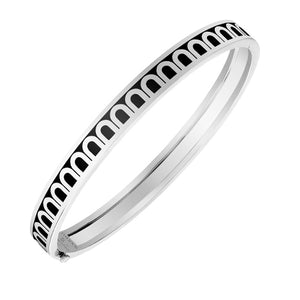 L'Arc de DAVIDOR Bangle PM, 18k White Gold with Caviar lacquer, size 17