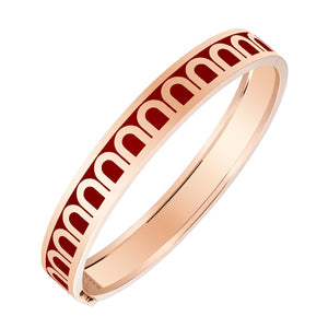 L'Arc de DAVIDOR Bangle MM, 18k Rose Gold with DAVIDOR Bordeaux lacquer, size 17