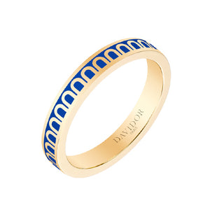 L'Arc de DAVIDOR Ring PM, 18k Yellow Gold with Riviera lacquer, size 52