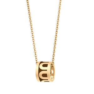 L'Arc de DAVIDOR Bead, 18k Yellow Gold with Cognac lacquer