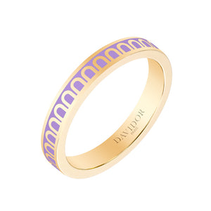 L'Arc de DAVIDOR Pendant PM, 18k Yellow Gold with Lavande lacquer
