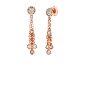 Tassel Drop Earrings Diamond Stations