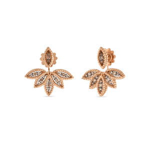 Brown Diamond Stud Earring Fan Jackets