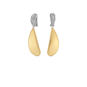 Gourmette Drop Earrings Diamonds