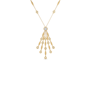 Tassel Necklace Diamond Stations