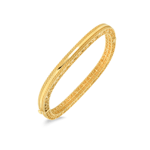 Slim Bangle Braided Edges