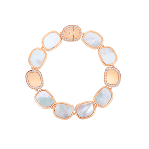 Bracelet With Mother Of Pearl And Diamonds 2